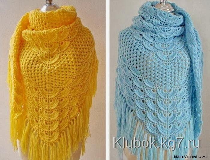 красивые шали вязание крючком журнал вдохновение рукодельницы
