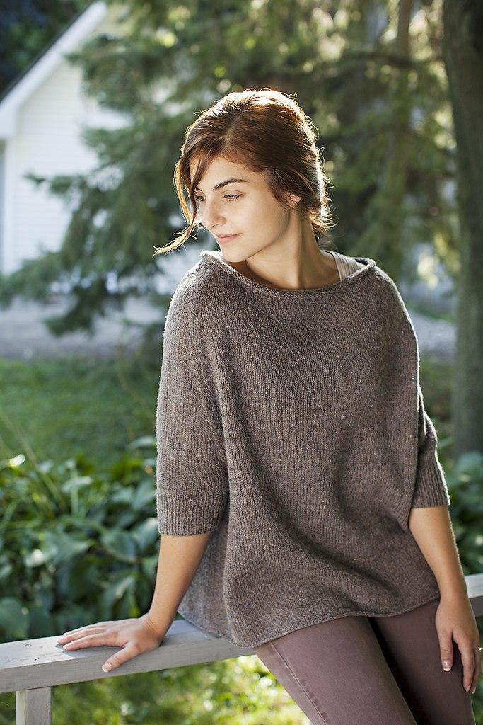 пуловер оверсайз вязание спицами журнал вдохновение