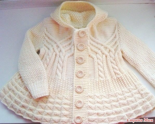 пальто для девочки вязание спицами журнал вдохновение рукодельницы