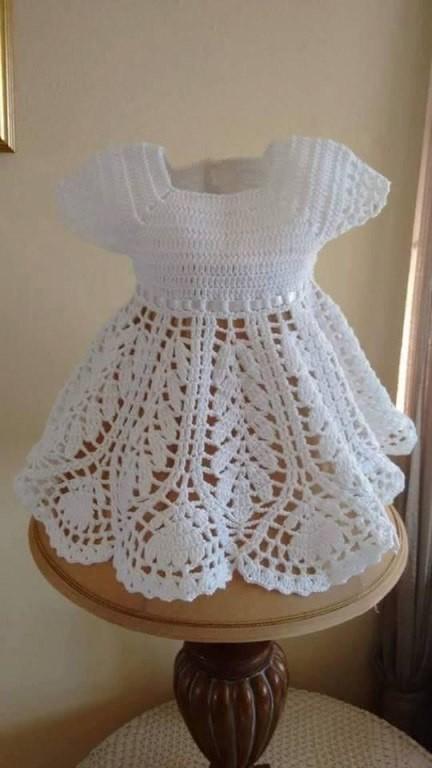 Платье крючком до года схема