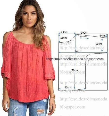 ba93e885b84 Простые выкройки блузок (Шитье и крой) – Журнал Вдохновение ...