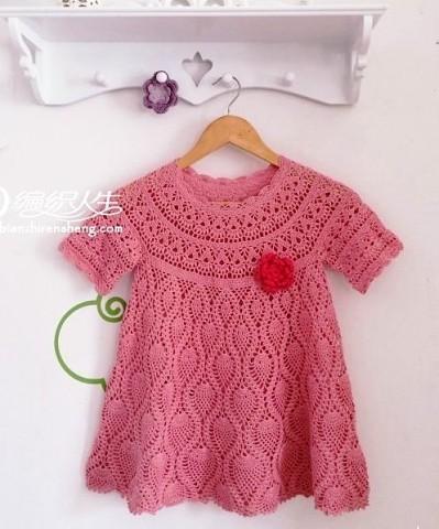 детское платье на круглой кокетке крючком схема вязание крючком
