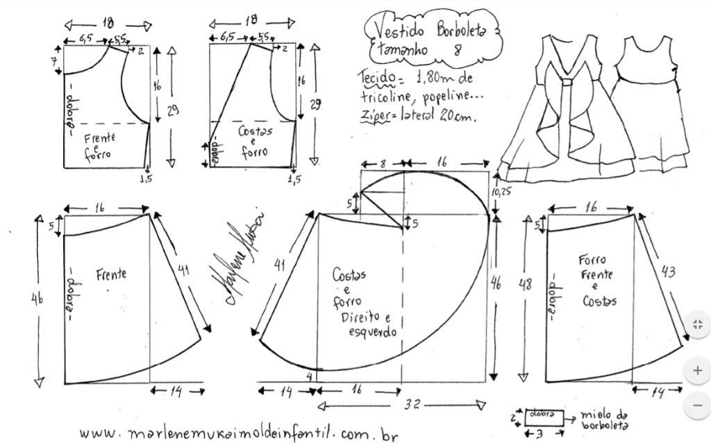Выкройка блузки для девочки 38 размер фото 810