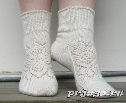 вязаные носки с красивым орнаментом вязание спицами