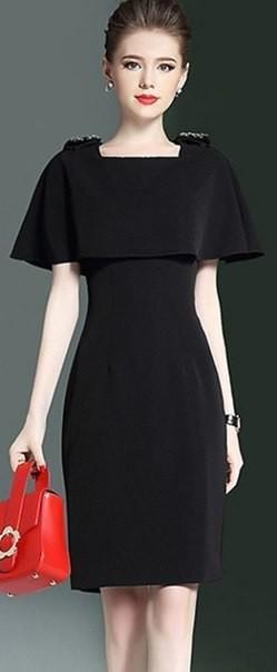 Выкройка черного платья. Размеры евро от 36 до 52 (Шитье и крой)
