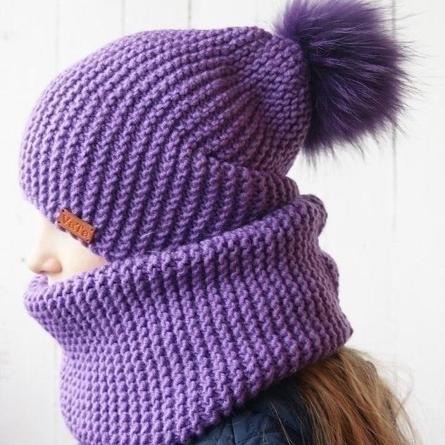 шапка бини на взрослого вязание спицами журнал