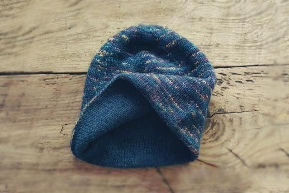 двухслойная шапка спицами базовая модель вязание спицами