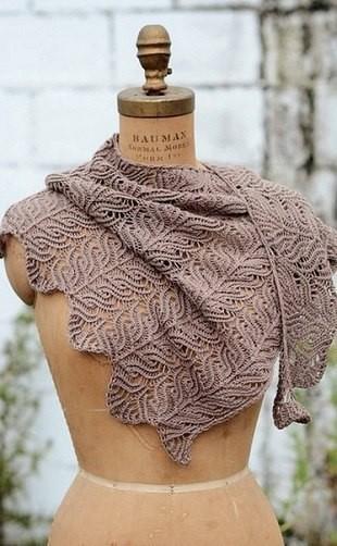 Красивый узор для вязания палантина (Вязание спицами)