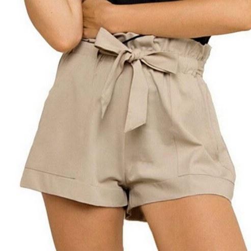 Women-Casual-Shorts-Design-Patchwork-Plus-Size-High-Waist-Shorts-Loose-Fashion-Shorts-female-With-Belt