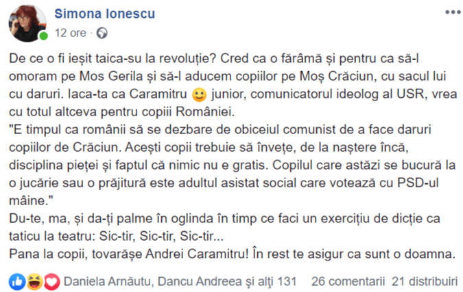 Simona Ionescu, Evenimentul zilei