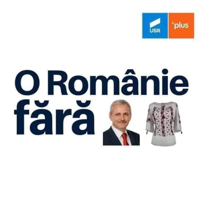 """Una dintre variantele ironice ale sloganului """"O Românie fără hoție"""""""