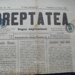 Ziarul Dreptatea din 15 martie 1895