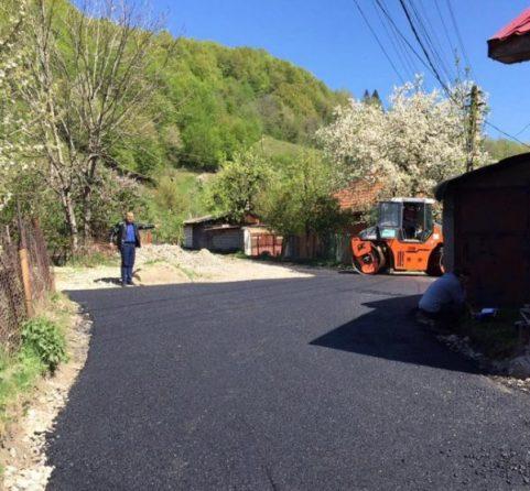 asfalt pe strada stadionului