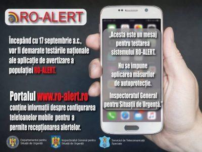 A început testarea aplicației pentru situații de urgență RO ALERT
