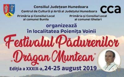 """Invitație la Festivalul Pădurenilor """"Drăgan Muntean"""""""