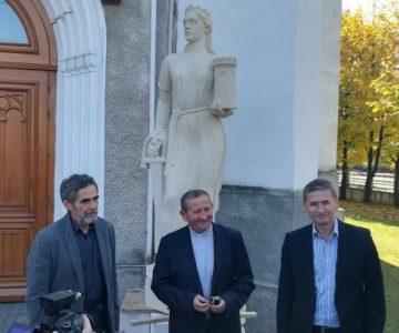 Statuia Sfintei Varvara-Ocrotitoarea minerilor, a ajuns acasă, la Petroșani