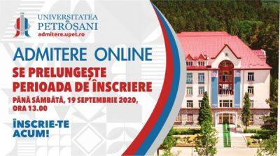 O zi în plus pentru admiterea la Universitatea din Petroșani