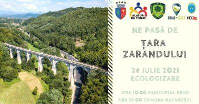 Acțiune de ecologizare derulată de SIGD Hunedoara în Țara Zarandului