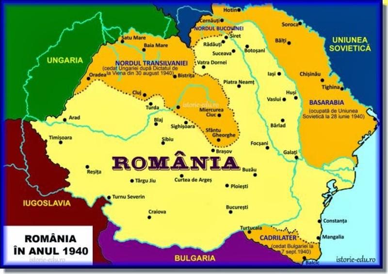 Imagini pentru harta ardealului dupa dictatul de la viena
