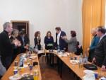 Cenaclul literar tecucean și-a sărbătorit decanul de vârstă, poetul Mihai Ștefaniu