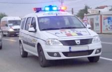 Autospecială a Poliției, implicată într-un accident rutier la Frumoasa
