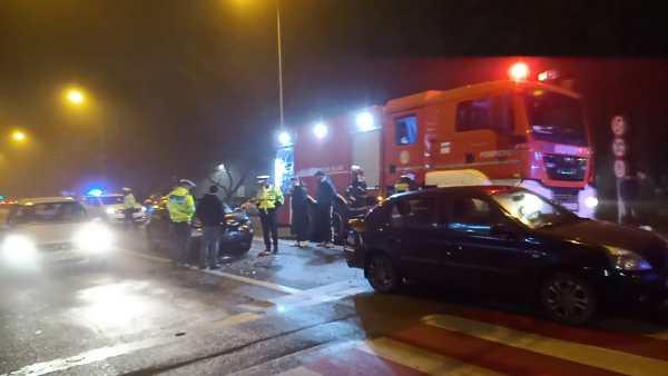 Accident rutier în Alexandria, la intersecția străzilor Dunării cu Brâncoveanu