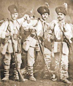 dorobanti-romani-cu-uniforma-din-1859-in-razboiul-de-independenta-din-1877