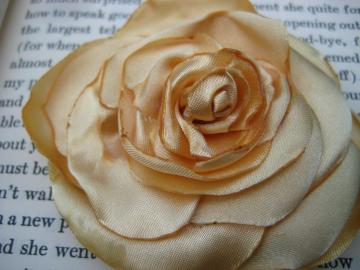 Golden Yellow Satin Rose Brooch by Ever Just Curious