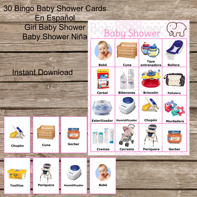 Bingo Baby Girl Shower In Spanish Baby