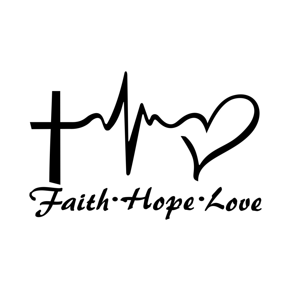 Download Faith Hope Love Heart graphics design SVG DXF | vectordesign