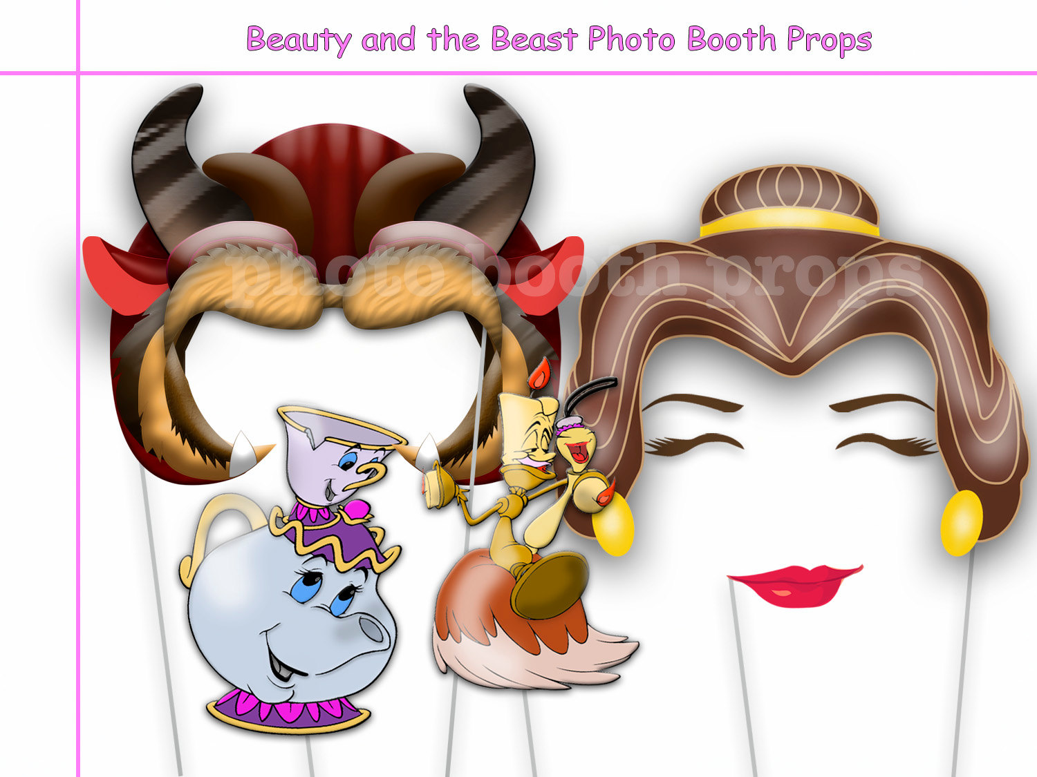 Beauty And The Beast Party Photo Booth