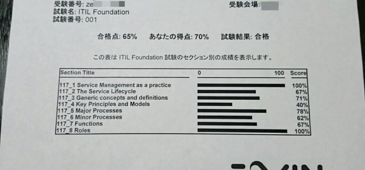 【ITIL V3 Foundation】試験を受けてきました。なんとか合格したので勉強方法などを紹介します