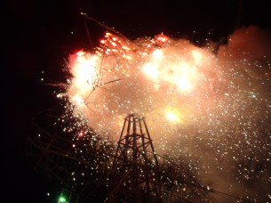 tower of fireworks