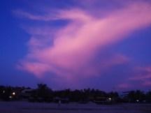 pink clouds over zicatela