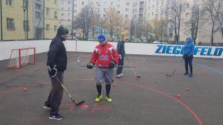 Hokejbal Ziegelfeld Trening