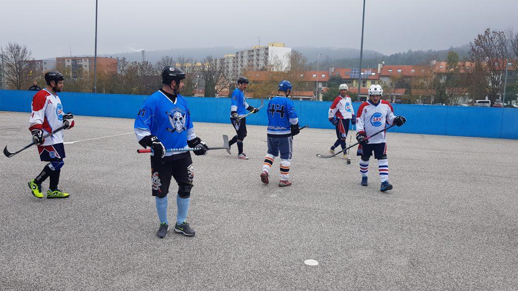 Hokejbalový zápas BHBL SAV Lamač vs Ziegelfeld