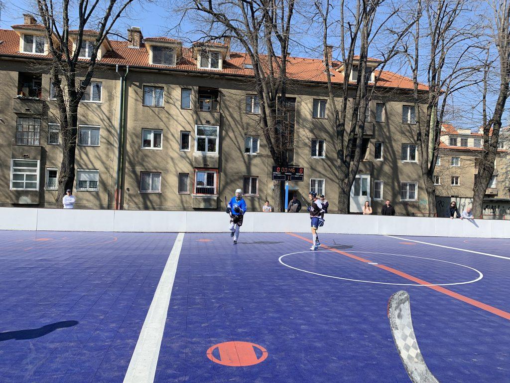 Bratislavská hokejbalová liga HBK 500 Nivy vs Ziegelfeld