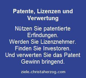 Patente, Lizenzen und Verwertung