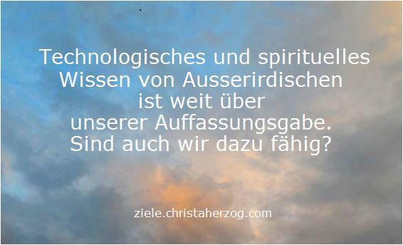 Technologisches und spirituelles Wissen von Außerirdischen