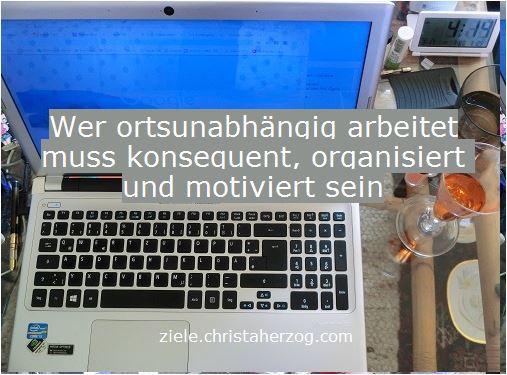 Ortsunabhängige Arbeit verlangt nach Konsequenz und Organisation