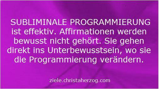 Subliminale Programmierung ist effektiv
