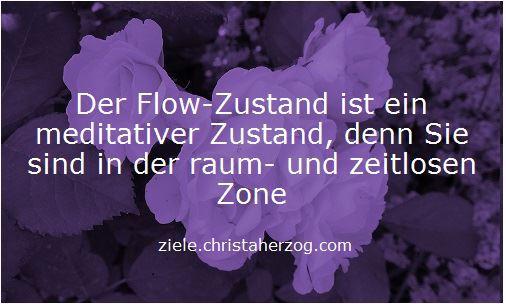 Der Flow-Zustand ist meditativ und entspannt