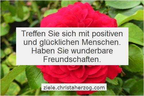 Treffen Sie positive und glückliche Menschen