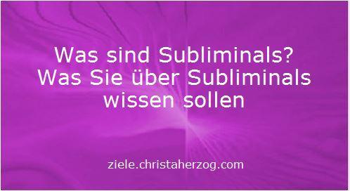 Was sind Subliminals