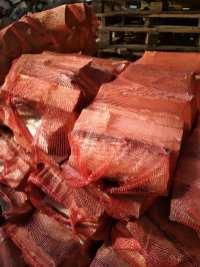 liściaste Drewno opałowe w workach.