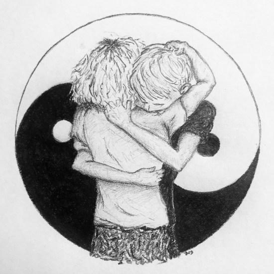 Tabula rasa. Leven in plaats van overleven. Verbonden in yin en yang.