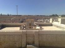 Plac świątynny na makiecie Jerozolimy z epoki Jezusa (Muzeum Izraela w Jerozolimie)