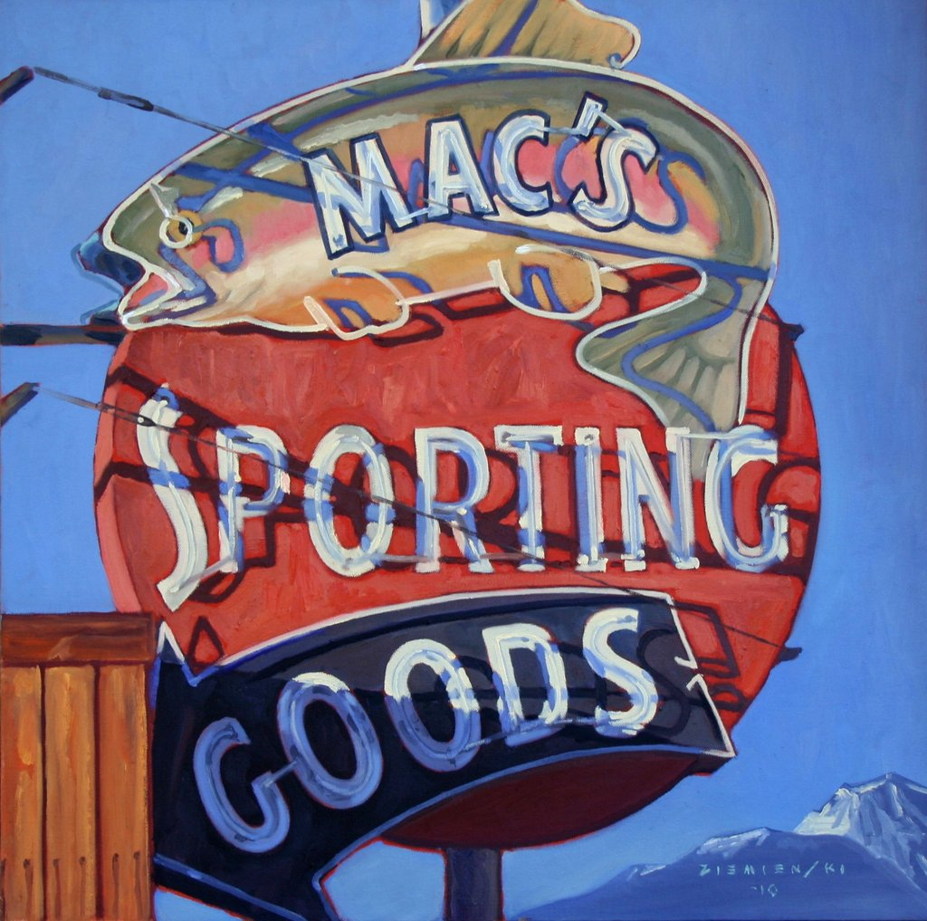 Macs Sporting Goods The Art Of Dennis Ziemienski