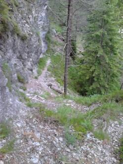 to je pot iz prejšnje slike slikana od zgoraj