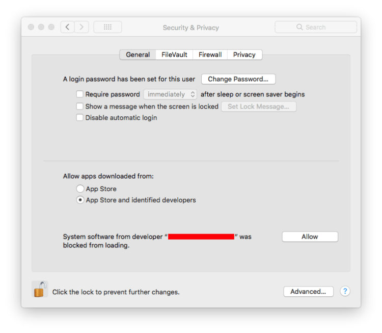 MacOSX security